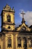 Church in Pelourinho, Salvador, Brazil. Church in the Terreiro de Jesus in the Pelourinho, the historical centre of Salvador da Bahia, Brazil Royalty Free Stock Images