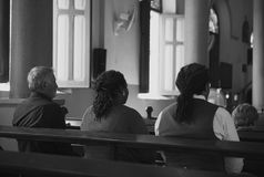Church People Believe Faith Religious Praying Concept Stock Image