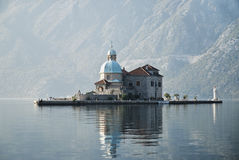 Church in perast kotor bay montenegro Royalty Free Stock Image