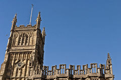 The Church and the Peregrine Falcon Royalty Free Stock Photography