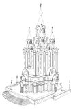 Church Perspective View Illustration Vector Royalty Free Stock Image