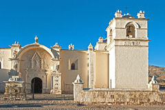Church Peru. View at a beautiful typical old Church in Peru Royalty Free Stock Image
