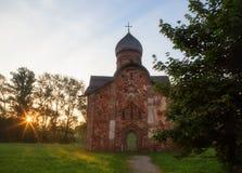 Church of Peter and Paul in Kozhevniki. In Veliky Novgorod in the early morning Stock Photos