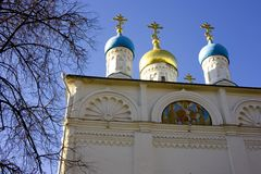 The Church of Peter and Paul on Soldier outside Moscow Royalty Free Stock Image