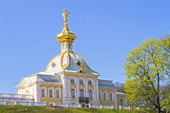 Church in Peterhof. With blue sky Stock Photo