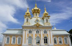 Church in Peterhof. Church of Grand Palace in Peterhof Royalty Free Stock Photos