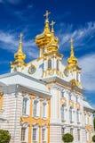 Church in Peterhof, St Petersburg. Church of Saints Peter and Paul in Peterhof, St Petersburg, Russia Stock Photos