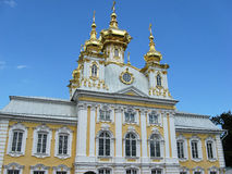 The Church in Peterhof. Russia. The Church in Peterhof (suburb of St. Petersburg). Landmark. Tourist attraction. Historic building. Architectural monument Royalty Free Stock Photo