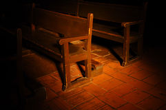 Church Pew Stock Photo