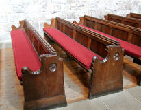 Church Pew. Royalty Free Stock Images
