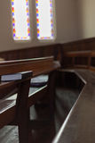 Church pew Royalty Free Stock Photos