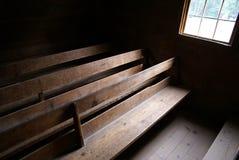 Church pews 1 Stock Photo