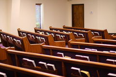 Church Pews Royalty Free Stock Photography