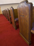 Church pews. Picture of pews inside a church Royalty Free Stock Photography