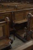 Church pews Royalty Free Stock Image