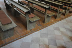 Church pews Royalty Free Stock Photo