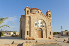 Church in Peyia, Cyprus. St. George church in Peyia, Cyprus, Europe. Sunny day, late afternoon light Stock Images