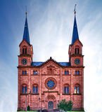 Church in Pfalz, Germany. Church in Pfalz with blue skies, Germany Royalty Free Stock Photo