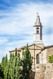 Church Pienza Tuscany Stock Photo