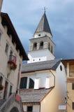 Church of Pieve di Cadore - Veneto Italy stock photo