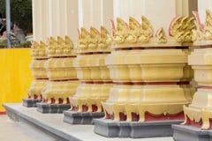 Church pillar at Sang gus temple,Uthaithani. Thailand Royalty Free Stock Image