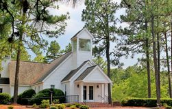Church in the pines Stock Photo