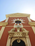 Church. This pink church with the Venetian architecture is the Cathedral of Corfu stock images