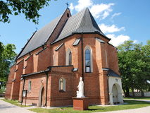 Church in Piotrawin, Poland Stock Image