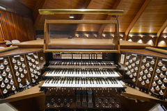 Church Pipe Organ Keyboards Stock Photography