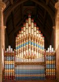 Church pipes. Church organ pipes in cathedral Stock Images