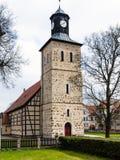 Church in Pisz, Poland. Church in Pisz Town, Poland. The Baptist XVIIth century temple of Saint John Royalty Free Stock Photo