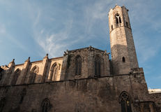 Church in Plaça del Rei. Barrio Gotico, Barcelona, Spain Royalty Free Stock Photography