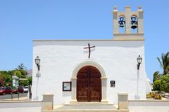 Church in Playa Blanca. Beautiful little catholic church In Playa Blanca, Lanzarote, Spain Royalty Free Stock Image