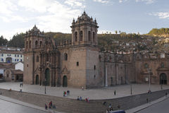 Church in Plaza de Armas, city of Cuzco, Peru Royalty Free Stock Photos