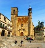Church at  Plaza Mayor in Trujillo Stock Photography
