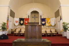 Church podium. Picture of a podium inside a church Stock Photography