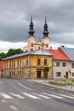 Church in Podolínec town. In northern Slovakia Stock Photos