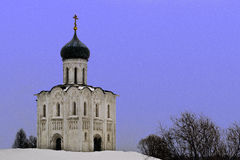 Church. The church Pokrova on the Nerli river in Vladimir, Russia Stock Images