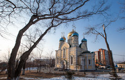 Church of Pokrova Presvyatoy bogoroditsi in Vladivostok Royalty Free Stock Photography