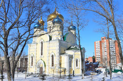 The Church of Pokrova Presvyatoy bogoroditsi in Vladivostok Stock Images