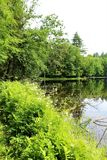 Church Pond. Landscape at Church Pond located south of Stark, New York, a source of the North Branch Grass River Royalty Free Stock Photography