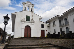 A Church in Popayan, Colombia.  stock photography