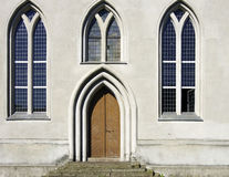 Church porch and windows Royalty Free Stock Photo