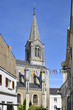 Church of Pornic in France Stock Photography