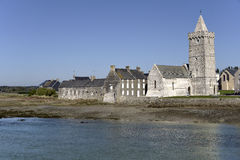Church of Port-Bail in France Royalty Free Stock Photography