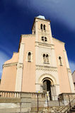 Church of Port-Vendres with sky in background Royalty Free Stock Photo