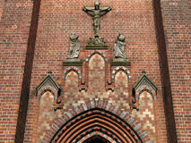 Church portal. Portal of the St. Marien Church in Roebel, Mecklenburg-Western Pomerania, Germany royalty free stock photos