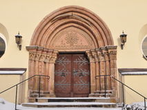 Church portal ,village Nossen,Germany Stock Photos