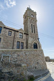 Church in porthleven harbour Royalty Free Stock Photo