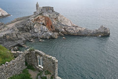 Church of Porto Venere, Italy. Stock Photography